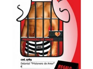 "Caja regalo delantal ""prisionero del amor"""