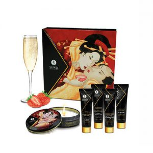 KIT 5 PIEZAS GEISHAS SECRET FRESAS CON CAVA